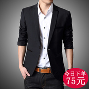 Spring and autumn season men's casual suit young men's Korean version of the small style of the British Wedding Suit Jacket