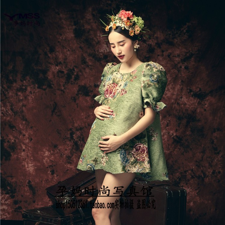 Han edition mummy photo studio maternity clothing photography photo fashion personality clothes pregnant to restore ancient ways the new theme