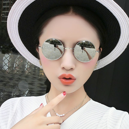 Anti radiation glasses, retro frame, round computer, mobile phone, no degree can prevent Blu ray, small face, flat mirror, male