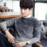 The winter men's sweater T-shirt sweater sweater thickening trend of personality students boys jacket men