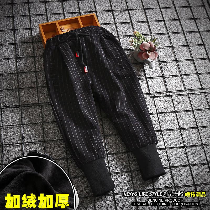 男童加绒裤子2017冬季新款3秋冬4韩版5加厚6保暖7黑色8岁儿童长裤