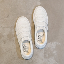 Velcro white shoes female Harajuku ulzzang canvas shoes super fire 2018 spring new Korean wild shoes