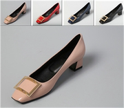 Paris cattle sheep leather goods fashion metal buckle comfortable inside party with the leather high heels shoes shoes