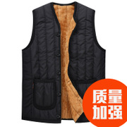 The elderly father with thickening of the middle-aged man Qiu dongkuan men's cashmere vest vest vest in winter with grandpa