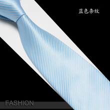 Tie men dress wedding groom Business Edition 8CM wide stripe pink blue purple work occupation