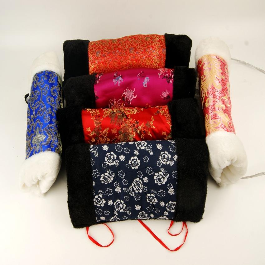 暖手套筒甄嬛传暖手同款织锦丝绸面保暖抱枕护手捂手宝服饰百搭冬