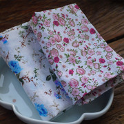 Total ink thin soft cotton handkerchief to clean small floral handkerchief sweat towel tea cloth