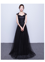 2016 Summer new style lace intellectual self something of a showman on the shoulder long dress