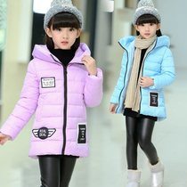 Children dress in kids girls winter coat jacket 10 12 cotton suits children aged 15 padded long jacket