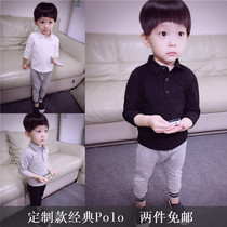 Baby boys cotton polo shirt for men and women small children cotton Polo Lady long sleeve t shirt clothes at the end of spring of 2017