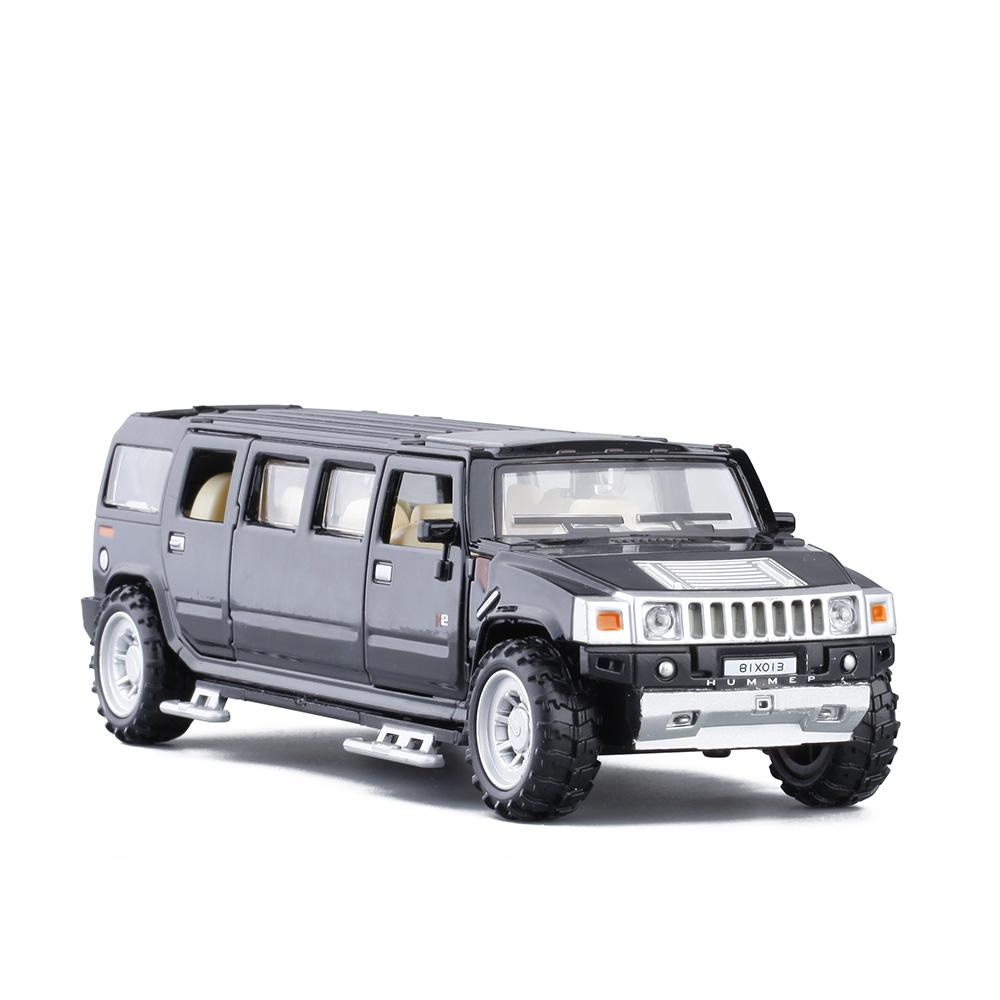 清仓1:32加长悍马H2房车越野车儿童仿真合金声光开门汽车模型玩具