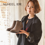 Such as Xi 2017 in autumn and winter boots leather boots Martin new female boots shoes with thick round shoes