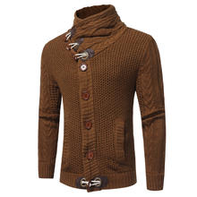 Winter clothes Men Cardigan Sweater HighCollar Thick knitted