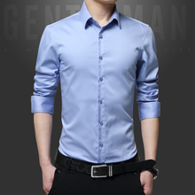 Spring spring and summer adult young men long sleeved shirt unlined formal clothes man said nice shirt waist spring clothing
