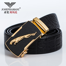 Zhuo Vatican Armani belt male leather automatic buckle leather belt middle-aged Korean youth business casual belt
