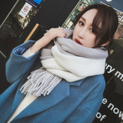 Autumn and winter scarves female Korean wild long thick thickened cape warm ladies knit wool student collar winter