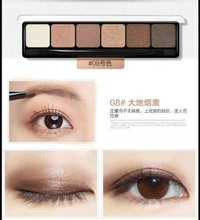South Korea wodwod counter genuine cock-a-doodle-doo earth color eye shadow color of smoke six waterproof powder