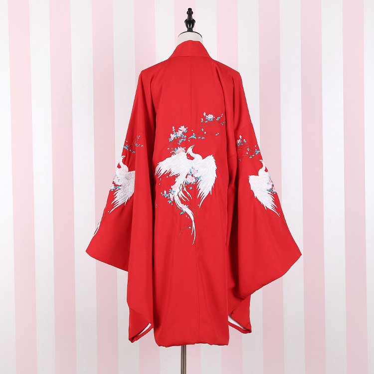 Mail 2017 explosion, heavy Ming bird, big sleeve unlined upper garment, outer covering Hanfu, national wind, Han element, ancient costume