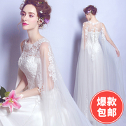 Angel wedding dress sexy perspective lace flower princess bride wedding dress 2017 new 2558 Qi