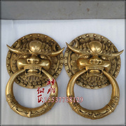 Open da lion head Door Knocker, door door door handle with a pair of pure copper pepper Seiko brass