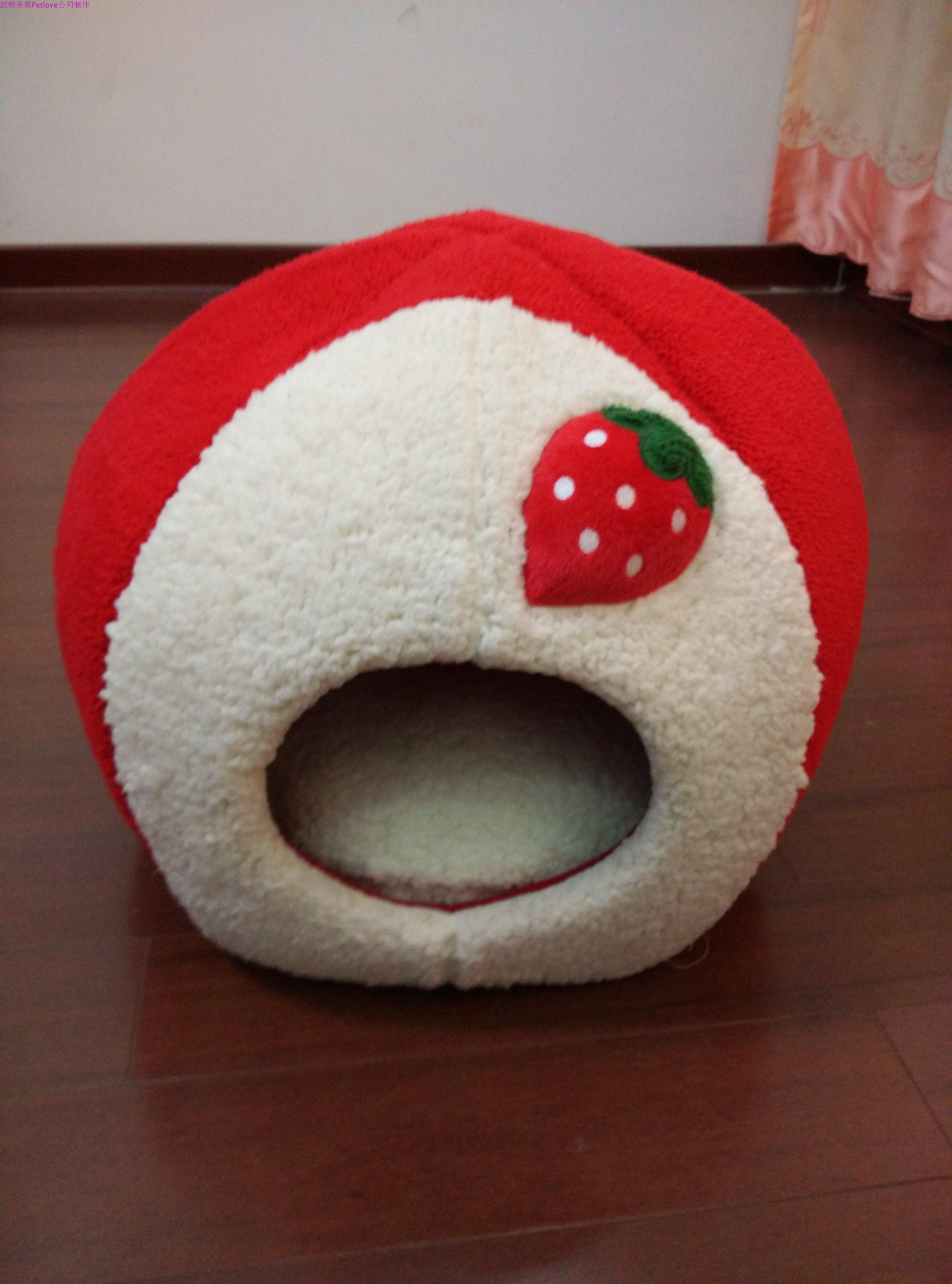 Pat le nest hit move high quality strawberry flannelette pet litter of DIY custom pet dog kennel package mail