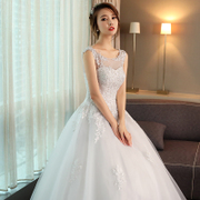 Wedding dresses, 2017 new styles, summer Korean shoulders thin, bride married Princess, sweet and fluffy skirt female