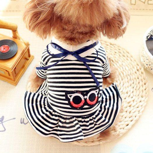 Shipping to Europe on vacation pet dog skirt dress dress wind Tactic small Yorkshire Pomeranian dog clothes