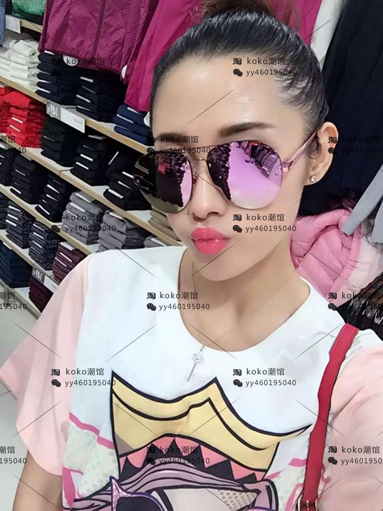 The new purchasing Linda Farrow Linda Farrow Sunglasses men and women fashion color film all-match round sunglasses