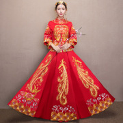Show 2017 new clothes Wo bride wedding dress wedding gown dragon costume Chinese wedding show autumn female kimono