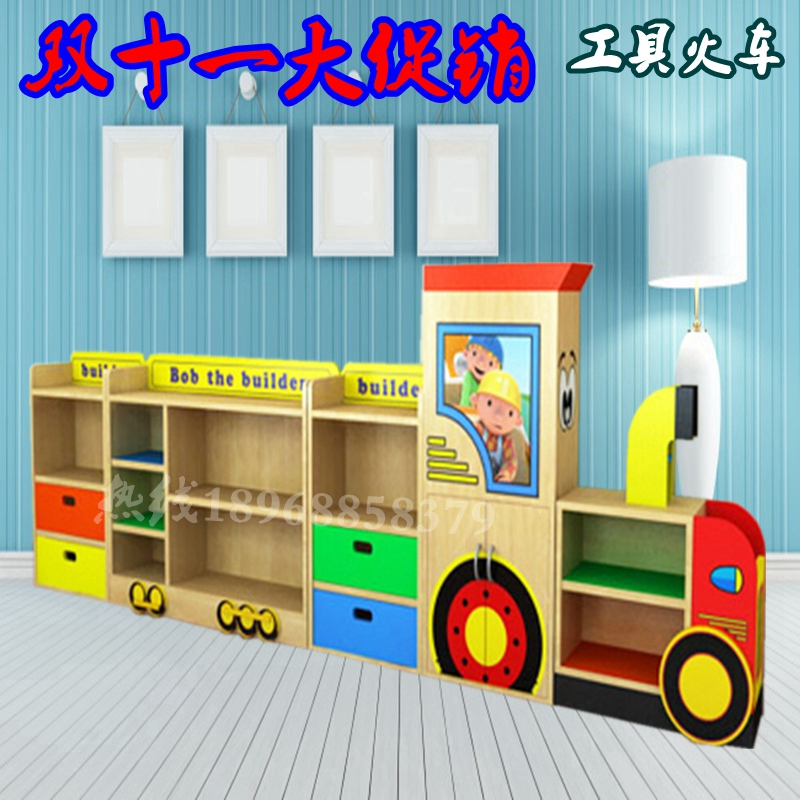 Cartoon Cabinet kindergarten fire Board bag Cabinet shelves lockers angry birds toys Cabinet