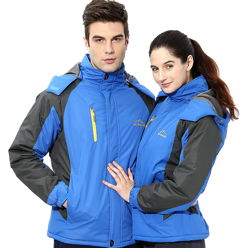 Jane Yu Fan lovers and cashmere jacket male winter windproof waterproof overalls thick warm cotton padded