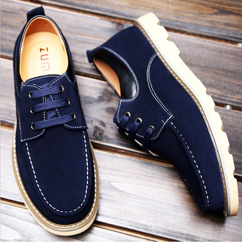 England men's casual shoes leather shoes leather strap in autumn beef bottom suede men's shoes low cut shoes wood shoes