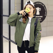 Korean version of the new women's spring and autumn BF baseball uniform jacket jacket jacket size loose students tide