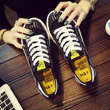 2017 new summer black canvas shoes ulzzang shoes all-match Korean female student Harajuku shoes shoes