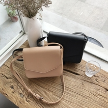 2018 new small bag Korea ins diagonal chic Hong Kong wind retro party bag simple wild girl bag