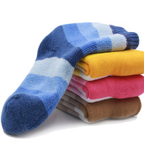 Children socks cotton winter children colourful striped boys girls thick warm and fuzzy socks in tube