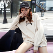 Spring and autumn ulzzang Hoodie female Korean students all-match Harajuku BF wind tide loose jumper thin