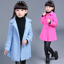 2017 new year childrens clothing in the spring and autumn girl Korean version boys children wool coats childrens Princess coat woolen cloth