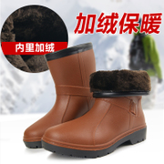 Men and women in Philippine guava tube thick warm winter boots and boots and shoes cotton cashmere cotton water rubber overshoes