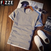 In summer men's t-shirt t-shirt t-shirt shirt Korean half sleeve clothes tide men's slim thin