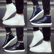 Spring men's casual shoes white shoes Korean winter sports shoes to help students in high white shoes