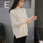 Half downneck female head size long sleeved loose Korean thickened shirt jacket 2016 tide in autumn and winter
