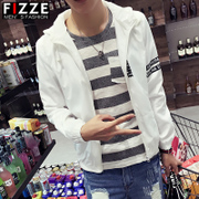 Male students spring sports leisure jacket coat thin long sleeved clothes charge spring Korean youth baseball uniform