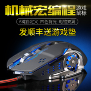 Game macro mechanical mouse cable computer gaming notebook lol mute silent photoelectric Wrangler CF