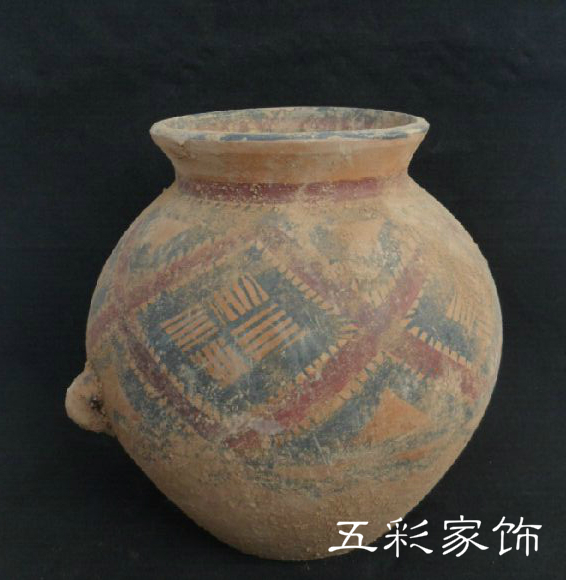 Painted pottery antique handicrafts Home Furnishing pottery decorative terracotta jewelry specialty restaurant