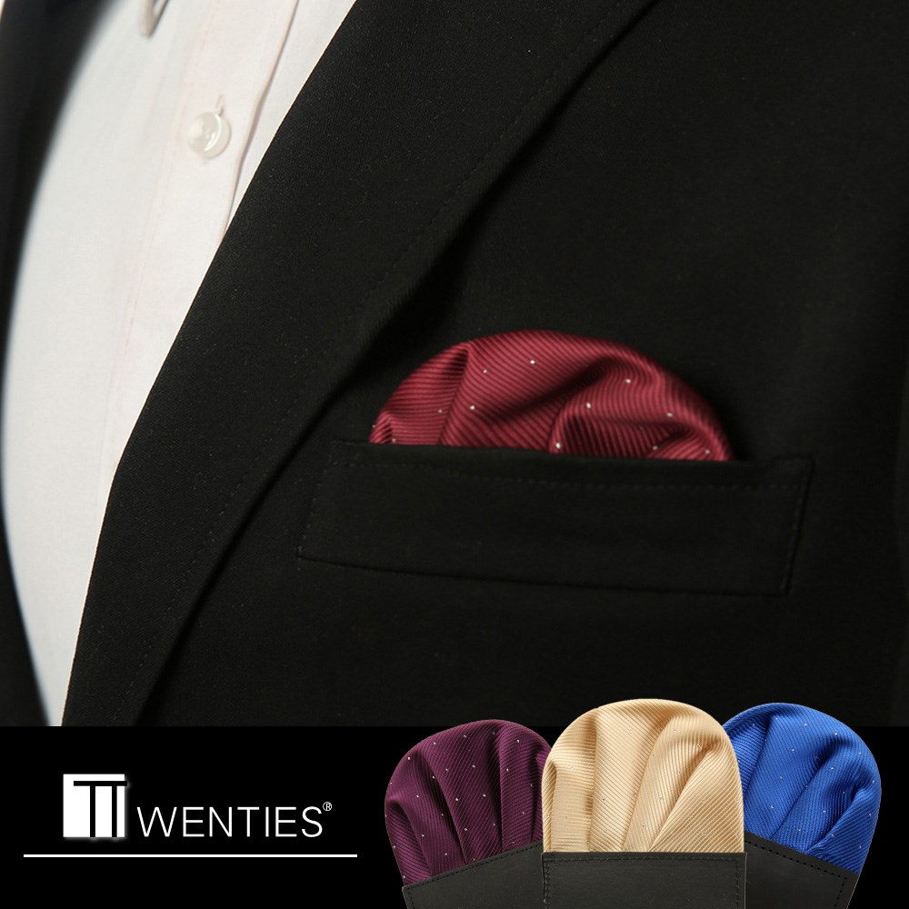 Suit pocket towel Men's suits business chest towel towel insert wine red wedding the groom suit a handkerchief