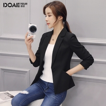 suit jacket female 2018 spring and autumn new Korean Slim long sleeve casual wild ladies black suit short paragraph