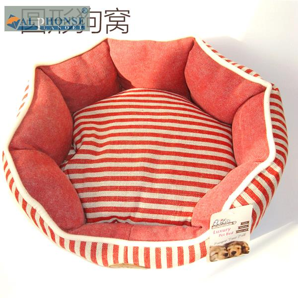 The pet dog kennel detachable small Tactic nest medium dog kennel cotton canvas striped cat sleeping sofa