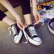 Summer low white canvas shoes white shoes casual shoes a female Korean female student couples shoes shoes