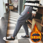Plush Harlan pants men loose pants Day Tide brand thickening casual knitted trousers nosing sweatpants